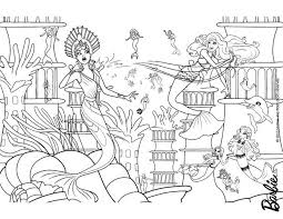 Small Picture Barbie Mermaid Coloring Pages Coloring Coloring Pages