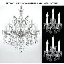 chandelier and sconce set set of 3 1 elements crystal chandelier and 2 maria wall sconce chandelier and sconce set