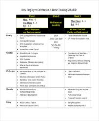 13 Employee Training Schedule Template Free Sample Example