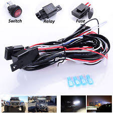 fog light wiring harness 12v 40a led work fog light bar wiring harness kit on off switch relay cable