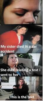 Text Message Car Accident memes | quickmeme via Relatably.com