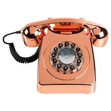Small Picture Metallic Copper Phone Oliver Bonas