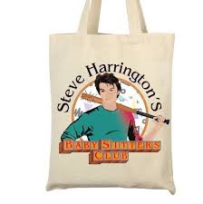 excited to share the latest addition to my etsy stranger things 2 tv show steve inspired tote bag steve s babysitting club steve harrington gift