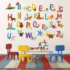 nursery abc alphabet wall stickers