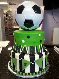 Soccer game themed birthday cake • That s The Cake Bakery • Dallas