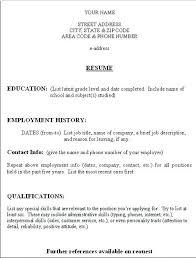 Brief Resume Format Directory Resume