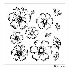 <b>ZhuoAng</b> Beautiful <b>flowers</b> Rubber Clear Stamps and Cutting Dies ...