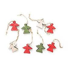 8 Kleine Rot Grün Natur Farbene Schutzengel Holz Engel