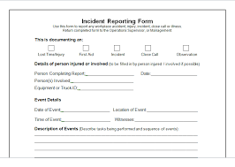 Incident Report Form Template Microsoft Word Excel Tmp