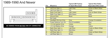 gm factory radio wiring diagram autoestereo delco electronics 2004 pontiac bonneville stereo wiring diagram at 2003 Pontiac Bonneville Radio Wiring Diagram