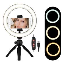 Ring Light For Phone Amazon Andoer Portable 8 6 Inch Led Ring Light Lamp 3 Light Modes Dimmable Brightness With Tripod Stand Cell Phone Holder Selfie Ringlight For Vlog Youtube