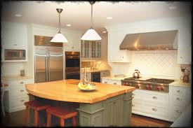 White Country Kitchen With Butcher Block Teresa Perry High Home