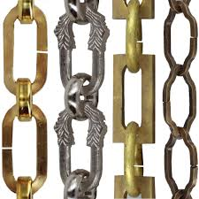 decorative brass chain