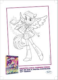 Small Picture Image Twilight Sparkle Rainbow Rocks coloring pagepng My