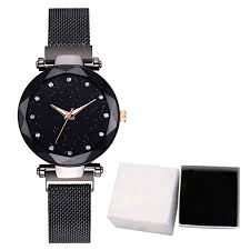 Buy Lailailaily Fashion <b>Starry Sky</b> Dial Mesh Belt Magnetic Buckle ...