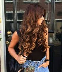 cute ombre hairstyle for curly long hair