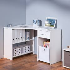 white desk with drawers and shelves. Wonderful With Halifax Corner Computer Desk In White With Drawer And Shelves On Drawers I