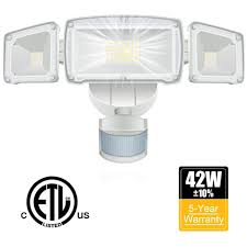 How To Install A Security Light From Scratch Us 41 99 25 Off Led Security Light 42w Outdoor Motion Sensor Security Light 3 Heads Flood Light Waterproof 3000lm 6000k Adjustable Lighting In
