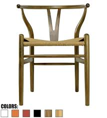 modern wood chair. Modern Wood Chair With Natural Woven Wishbone Seat D