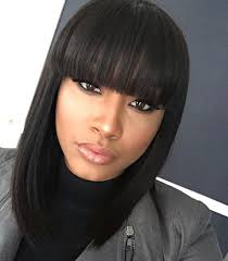 Hairstyles With Blunt Fringe 13 Hairstyles Thatll Make You Want Bangs Asap Brit Co