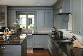 gray painted oak kitchen cabinets design ideas