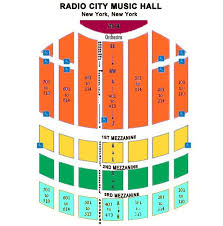 Radio City Music Hall New York Seating Chart Radio City Seating Chart