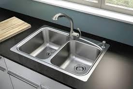 stainless steel bathroom fixtures. Moen Neva Two-bowl, Self-rimming, Two-hole, Stainless Steel Sink Bathroom Fixtures