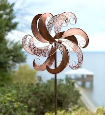 copper colored windmill spinner is truly a delight great for summer patios or if looking garden