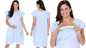 Hospital Gown Pattern Mesmerizing Amazon Gownies Labor Delivery Maternity Hospital Gown By