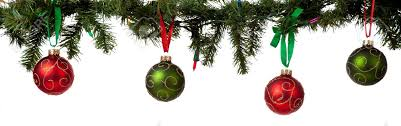 Christmas Ornaments Border A Christmas Ornament Border With Red And Green Glittered Baubles