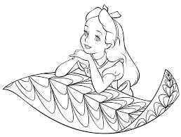 Small Picture Alice In Wonderland Coloring Pages Caterpillar Alice In Coloring