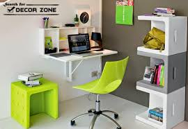 small office design. Small Office Design Ideas - Furniture: Hanged Desk Shelves And Table