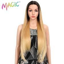 <b>MAGIC Hair</b> 30 Inch Soft Long Straight <b>Hair</b> Red Wine Wigs Natural ...