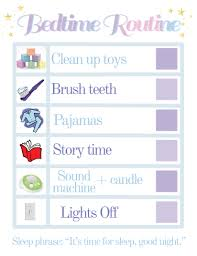 Bedtime Routine Chart Married With Style
