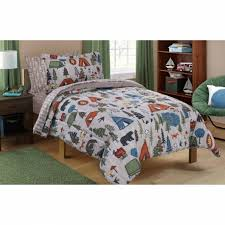 mainstays kids camping bed in a bag bedding set inside twin bedding sets for boy