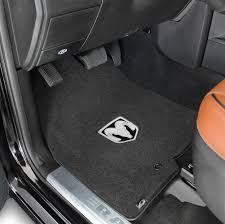 2016 2018 dodge ram 2500 3500 silver ram logo velourtex front seat floor mats black by lloyd mats