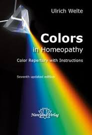 Homeopathy Repertory Chart Colors In Homeopathy Textbook