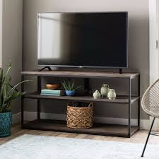 Rustic Entertainment Center TV Stand Media Console Reclaimed Wood 2 Shelves  NEW