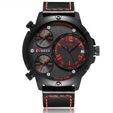 new curren 8262 3 time men 039 s watches military leather band new curren 8262 3 time men 039 s
