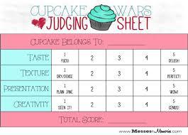 chili cook off judging sheet cupcake wars judging sheets google search facs classroom pinterest