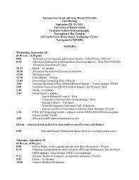 Agenda Office Agenda National Sea Grant Office Noaa