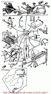 1981 xv750 wiring diagram 1981 image wiring diagram yamaha xv750 virago 1983 d usa electrical 1 schematic partsfiche on 1981 xv750 wiring diagram