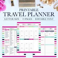 Travel Trip Planner Travel Planner Printable