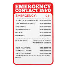 emergency contact template emergency number refrigerator magnets zazzle