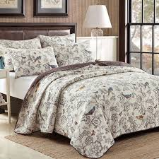251 best Cotton quilting .patchwork quilts &bedspread images on ... & ... bedspread white Suppliers: birds and flower leaves beige cotton  quilting quilt EUROPE waterwash bedspread hotel quilt kit bedcover king  size wholesale Adamdwight.com