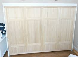 we used closet folding doors for the front of this faux cabinet the front of this is actually the bottom of the bed