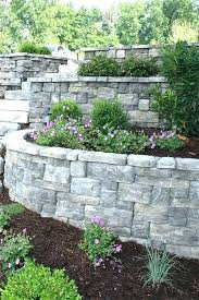 stone retaining wall cost best slopes walls images on landscaping garden