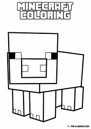 Minecraft Pig Coloring Pages Get Coloring Pages