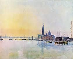 venice san guirgio from the dogana sunrise painting joseph mallord william turner venice san guirgio