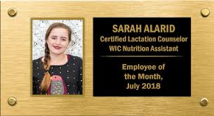 Employee Of The Month Photo Frame August 2018 Employee Of The Month Sarah Alarid Wic Post